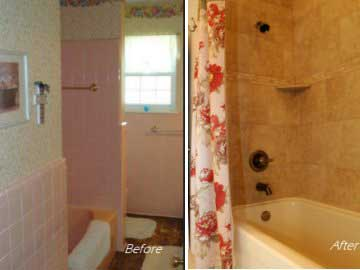 A Powerfully Pink Bathroom Remodel DreamMaker Bath Kitchen - Bathroom remodel lubbock