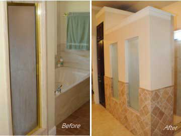 Remodeling a plain bathroom dreammaker bath kitchen for Bath remodel lubbock